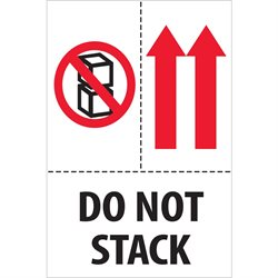 "4 x 6"" - ""Do Not Stack"" Labels"