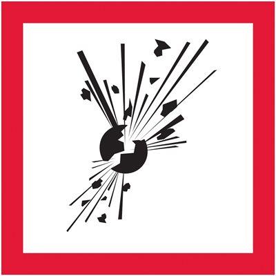 "1 x 1"" Pictogram - Exploding Bomb Labels"