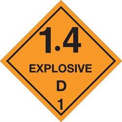 """4 x 4"""" - """"Explosive - 1.4D - 1 Labels"""