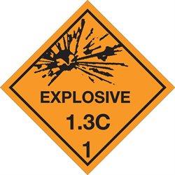 "4 x 4"" - ""Explosive - 1.3C - 1"" Labels"