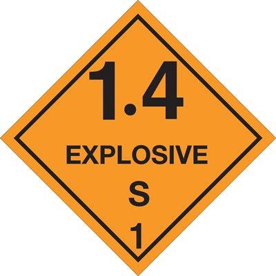 "4 x 4"" - ""1.4 - Explosive - S 1"" Labels"