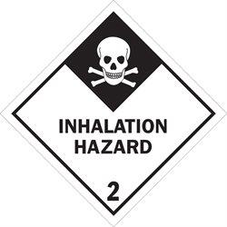 """4 x 4"""" - """"Inhalation Hazard - 2"""" Labels"""