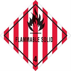 """4 x 4"""" - """"Flammable Solid - 4"""" Labels"""