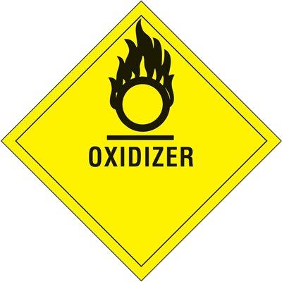 "4 x 4"" - ""Oxidizer"" Labels"