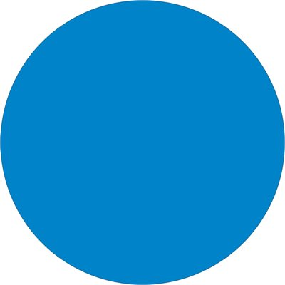 """3/4"""" Light Blue Inventory Circle Labels"""