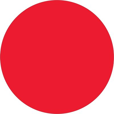 """1 1/2"""" Fluorescent Red Inventory Circle Labels"""
