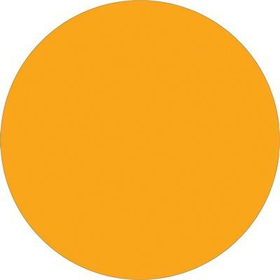 "3"" Fluorescent Orange Inventory Circle Labels"