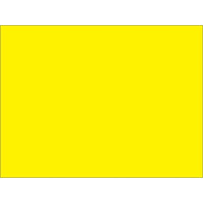 """3 x 4"""" Fluorescent Yellow Inventory Rectangle Labels"""