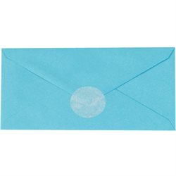 "1"" Frosty White Circle Paper Mailing Labels"