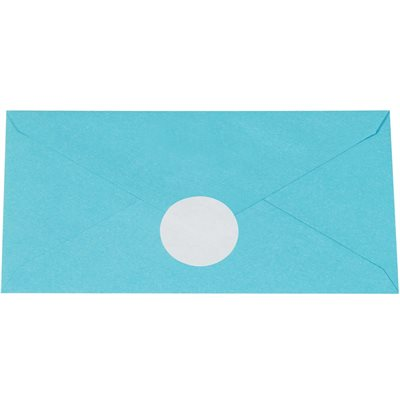 """1"""" White Circle Paper Mailing Labels"""