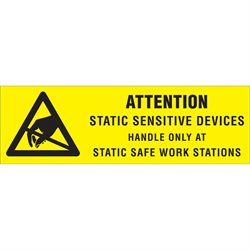 "5/8 x 2"" - ""Attention - Static Sensitive Devices"" Labels"