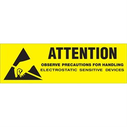 "5/8 x 2"" - ""Attention - Observe Precautions"" Labels"
