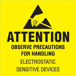 "4 x 4"" - ""Attention - Observe Precautions"" Labels"
