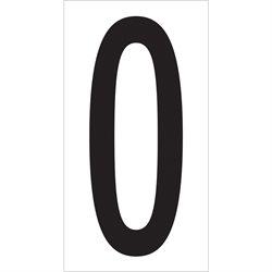 "3 1/2"" ""0"" Vinyl Warehouse Number Labels"