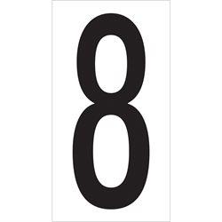 "3 1/2"" ""8"" Vinyl Warehouse Number Labels"
