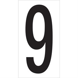 "3 1/2"" ""9"" Vinyl Warehouse Number Labels"