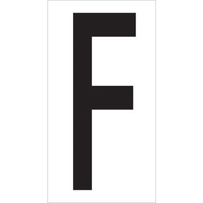"3 1/2"" ""F"" Vinyl Warehouse Letter Labels"