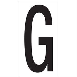 "3 1/2"" ""G"" Vinyl Warehouse Letter Labels"