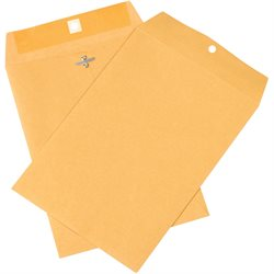 "7 1/2 x 10 1/2"" Kraft Clasp Envelopes"