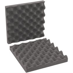 "10 x 10 x 2"" Charcoal Convoluted Foam Sets"