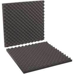 "24 x 24 x 2"" Charcoal Convoluted Foam Sets"