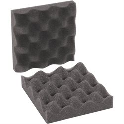 "6 x 6 x 2"" Charcoal Convoluted Foam Sets"