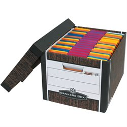 "15 x 12 x 10"" Wood Grain R-Kive® File Storage Boxes"