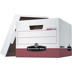 "15 x 12 x 10"" Red R-Kive® File Storage Boxes"