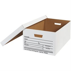 "24 x 15 x 10"" Auto-Lock Bottom File Storage Boxes"