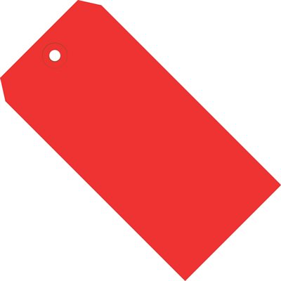 """5 1/4 x 2 5/8"""" Red 13 Pt. Shipping Tags"""