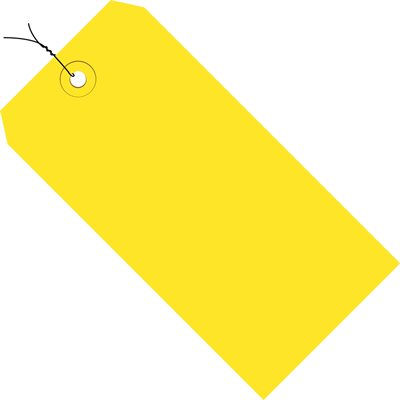 """5 3/4 x 2 7/8"""" Yellow 13 Pt. Shipping Tags - Pre-Wired"""