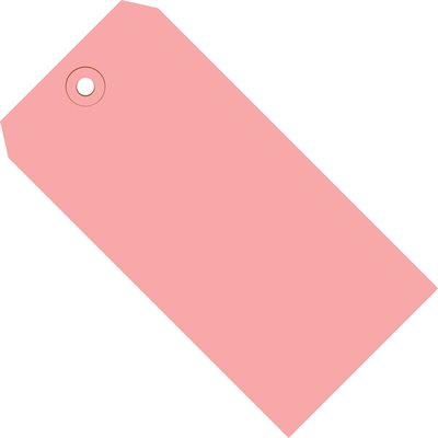 """6 1/4 x 3 1/8"""" Pink 13 Pt. Shipping Tags"""