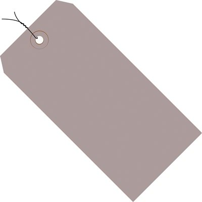 """8 x 4"""" Gray 13 Pt. Shipping Tags - Pre-Wired"""