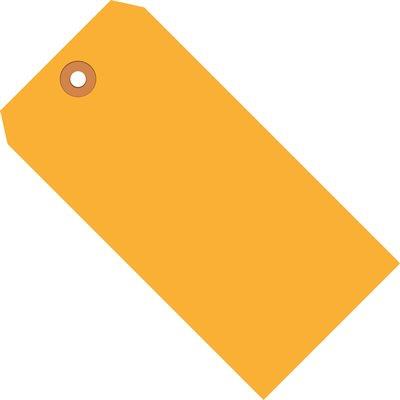 "5 3/4 x 2 7/8"" Fluorescent Orange 13 Pt. Shipping Tags"