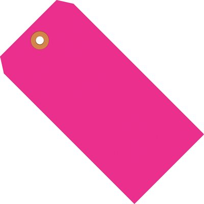 """5 3/4 x 2 7/8"""" Fluorescent Pink 13 Pt. Shipping Tags"""