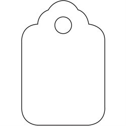 "1 1/8 x 1 3/4"" White Merchandise Tags"