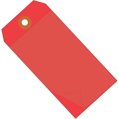 """6 1/4 x 3 1/8"""" Red Self-Laminating Tags"""