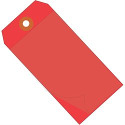 "6 1/4 x 3 1/8"" Red Self-Laminating Tags"