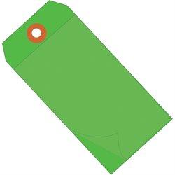 """6 1/4 x 3 1/8"""" Green Self-Laminating Tags"""