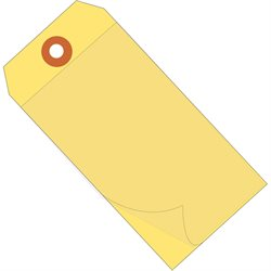 """6 1/4 x 3 1/8"""" Yellow Self-Laminating Tags"""