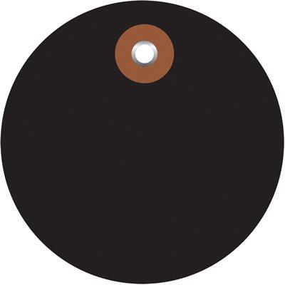 "3"" Black Plastic Circle Tags"