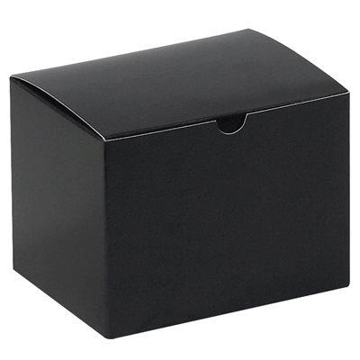 """6 x 4 1/2 x 4 1/2"""" Black Gloss Gift Boxes"""