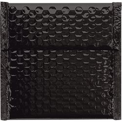 "7 x 6 3/4"" Black Glamour Bubble Mailers"
