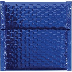 """7 x 6 3/4"""" Blue Glamour Bubble Mailers"""