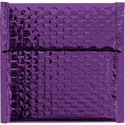 "7 x 6 3/4"" Purple Glamour Bubble Mailers"