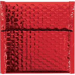 "7 x 6 3/4"" Red Glamour Bubble Mailers"