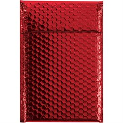 """7 1/2 x 11"""" Red Glamour Bubble Mailers"""