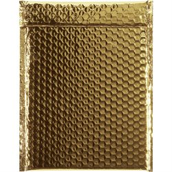 """9 x 11 1/2"""" Gold Glamour Bubble Mailers"""