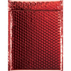 "9 x 11 1/2"" Red Glamour Bubble Mailers"