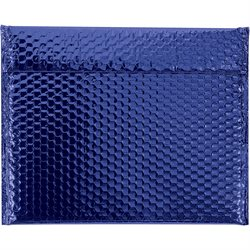 "13 3/4 x 11"" Blue Glamour Bubble Mailers"